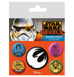 Star Wars Pin Badges 5-Pack Rebels