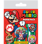 Super Mario Pin Badges 5-Pack