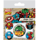 Marvel Comics Pin Badges 5-Pack Hulk