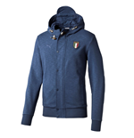 2015-2016 Italy Puma FIGC Azzuri Zip Through Hoody (Dark Denim)