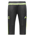 2015-2016 Real Madrid Adidas Three Quarter Length Pants (Grey) - Kids