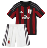 2015-2016 AC Milan Adidas Home Little Boys Mini Kit