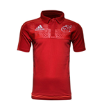 2015-2016 Munster Adidas Rugby Players Media Polo Shirt (Red)