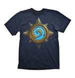 HEARTHSTONE Heroes of Warcraft Men's Rose Logo T-Shirt, Small, Dark Blue