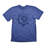 HEARTHSTONE Heroes of Warcraft Men's Vintage Rose Logo T-Shirt, Large, Blue