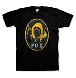 METAL GEAR SOLID V Ground Zeros Men's Fox Logo T-Shirt, Small, Black