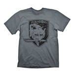 METAL GEAR SOLID Men's Foxhound Special Force Group Logo T-Shirt, Large, Grey