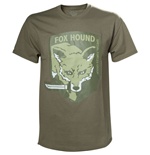 METAL GEAR SOLID Fox Hound Special Forces Group Men's T-Shirt, Small, Beige