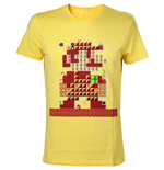 NINTENDO Super Mario Bros. Giant Mario 30th Anniversary Men's T-Shirt, Small, Yellow