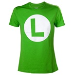 NINTENDO Super Mario Bros. Big Luigi Logo Men's T-Shirt, Small, Green