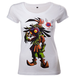 NINTENDO Legend of Zelda Majora's Mask Women's Skinny T-Shirt, Large, White