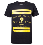 POKEMON Pallet Town Kanto Men's T-Shirt, Medium, Black