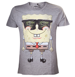 SPONGEBOB Sunglasses Men's T-Shirt, Small, Grey