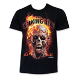 The WALKING DEAD Flaming Zombie Head Tee Shirt