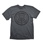 BIOSHOCK Columbia Customs & Excise 1907 Men's T-Shirt, Large, Dark Grey