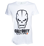 CALL OF DUTY Black Ops III Skull Men's T-Shirt, Medium, White