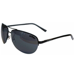 JACK DANIEL'S Large Dark Grey Lens with Black Thin Frame Unisex Sunglasses, One Size, Dark Grey/Black