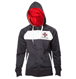 CAPCOM Resident Evil Umbrella Corporation Men's Full Length Zipper Hoodie, Large, Black/White