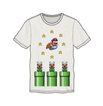 NINTENDO Super Mario Bros. Flying Mario Men's T-Shirt, Medium, White