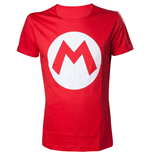 NINTENDO Super Mario Bros. Big Mario Logo Men's T-Shirt, Small, Red