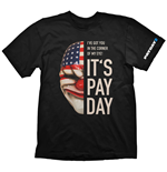 PAYDAY 2 Men's Dallas Mask Medium T-Shirt, Black