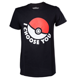 POKEMON I Choose You Men's T-Shirt, Extra Small, Black