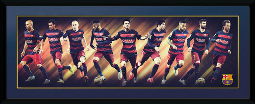 Barcelona Players 15/16 Framed Collector Print