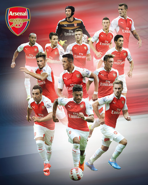 Arsenal Players 15/16 Mini Poster