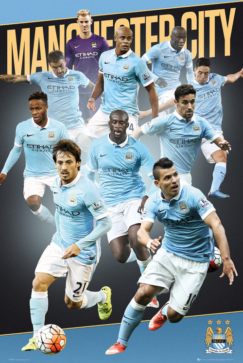 Manchester City Players 15/16 Maxi Poster