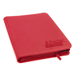 Ultimate Guard 8-Pocket QuadRow ZipFolio XenoSkin Red