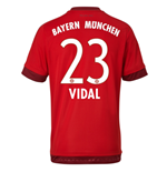 2015-16 Bayern Munich Home Shirt (Vidal 23)