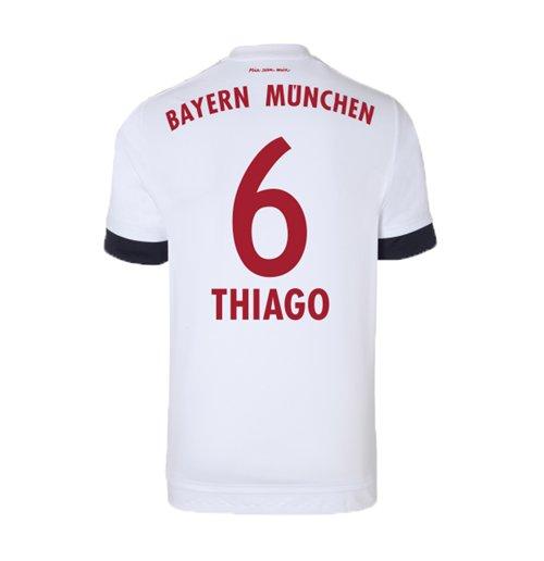 finest selection adad1 76882 2015-16 Bayern Munich Away Shirt (Thiago 6)
