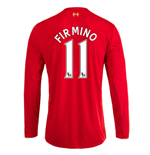 2015-16 Liverpool Home Long Sleeve Shirt (Firmino 11) - Kids