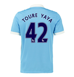 2015-16 Man City Home Shirt (Toure Yaya 42) - Kids