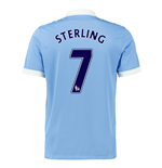 2015-16 Man City Home Shirt (Sterling 7) - Kids