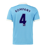 2015-16 Man City Home Shirt (Kompany 4)