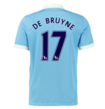 2015-16 Man City Home Shirt (De Bruyne 17)
