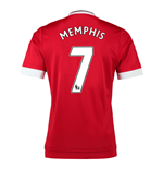 2015-16 Man United Home Shirt (Memphis 7) - Kids