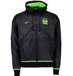 2015-2016 Man City Nike Authentic Windrunner Jacket (Black)