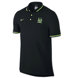 2015-2016 Man City Nike Authentic League Polo Shirt (Black)