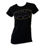 BATMAN Rhinestone Logo Women's Tee Shirt