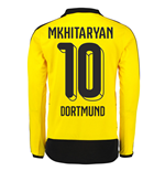 2015-16 Dortmund Home Long Sleeve Shirt (Mkhitaryan 10) - Kids