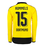 2015-16 Dortmund Home Long Sleeve Shirt (Hummels 15)