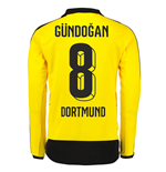 2015-16 Dortmund Home Long Sleeve Shirt (Gundogan 8) - Kids