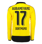 2015-16 Dortmund Home Long Sleeve Shirt (Aubamyeng 17) - Kids