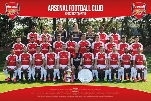 Arsenal Team Photo 15/16 Maxi Poster