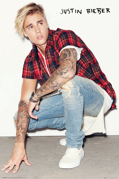 Justin Bieber Crouch Maxi Poster
