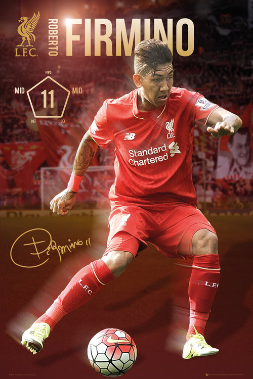 Liverpool Firmino 15/16 Maxi Poster