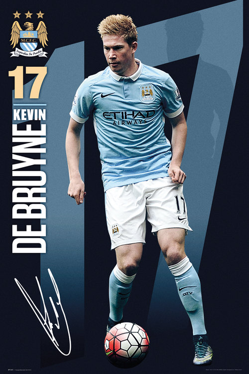 Buy Official Manchester City De Bruyne 1516 Maxi Poster