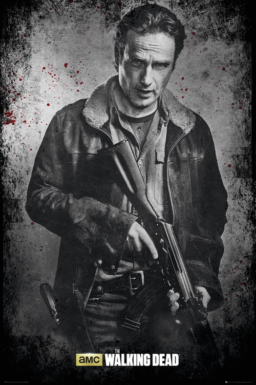 The Walking Dead Rick Black and White Maxi Poster